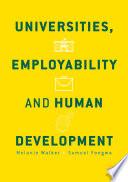 Universities  Employability and Human Development