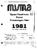 MVMA Specifications Form   Passenger Car  Malibu   Malibu Classic   El Camino  1981