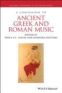 A Companion to Ancient Greek and Roman Music Pdf/ePub eBook
