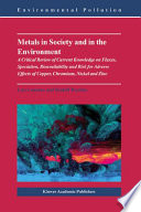 Metals in Society and in the Environment Book