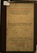 Illustrated Catalogue Of Important Americana
