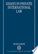 essays in private international law peter machin north google  essays in private international law