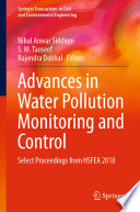 Advances in Water Pollution Monitoring and Control