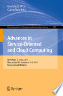 Advances in Service-Oriented and Cloud Computing  : Workshops of ESOCC 2014, Manchester, UK, September 2-4, 2014, Revised Selected Papers