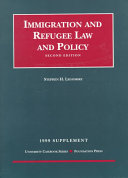 1999 Supplement to Immigration and Refugee