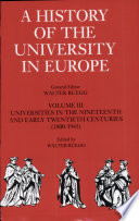 A History Of The University In Europe Volume 3 Universities In The Nineteenth And Early Twentieth Centuries 1800 1945