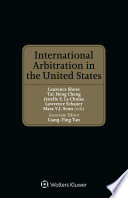 International Arbitration in the United States