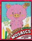 Cute Animals Circle Mosaics Coloring Book
