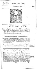 Acts And Laws Made And Passed By The General Court Or Assembly Of The State Of Connecticut In America