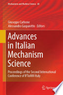 Advances in Italian Mechanism Science Book