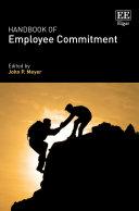 Pdf Handbook of Employee Commitment Telecharger