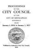 Proceedings Of The City Council Of The City Of Minneapolis Minnesota From