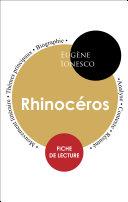 Pdf Fiche de lecture Rhinocéros (Étude intégrale) Telecharger