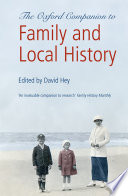 The Oxford Companion to Family and Local History Book PDF