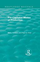 Pdf Routledge Revivals: Pre-Capitalist Modes of Production (1975) Telecharger