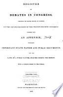 Register of Debates in Congress Book PDF