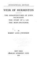Weir Of Hermiston Book PDF