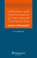 Unification and Harmonization of International Commercial Law