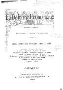 La Réforme économique