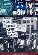 Race Relations in the United States  1920 1940 Book