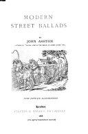 Modern Street Ballads