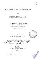 The Influence of Christianity Upon International Law