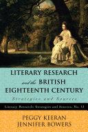 Literary Research and the British Eighteenth Century [Pdf/ePub] eBook