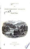 Memoir of John Frederic Oberlin  Pastor at Ban de la Roche
