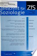 Zeitschrift für Soziologie