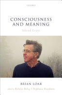 Consciousness and Meaning