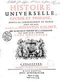 Histoire universelle sacrée et profane depuis le commencement du monde jusqu'à nos jours... [ill. par Striedbeck]