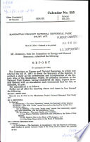 Manhattan Project National Historical Park Study Act