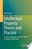 Intellectual Property Theory and Practice  : A Critical Examination of China's TRIPS Compliance and Beyond