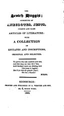 The Scotch haggis; consisting of anecdotes, jests [&c.] with a coll. of epitaphs and inscriptions