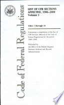 Code Of Federal Regulations Titles 1 Through 16