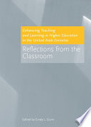 Enhancing Teaching and Learning in Higher Education in the United Arab Emirates Book