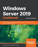Windows Server 2019 Cookbookm   Second Edition