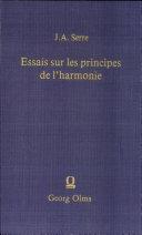 Pdf Essais sur les principes de l'harmonie Telecharger