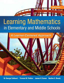 Learning Mathematics in Elementary and Middle School   Video enhanced Pearson Etext Access Card