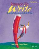 Reason To Write Student Book High Beginning