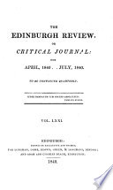 """The Edinburgh Review: Or Critical Journal"" by Sydney Smith, Lord Francis Jeffrey Jeffrey, Macvey Napier, William Empson, Sir George Cornewall Lewis, Henry Reeve, Arthur Ralph Douglas Elliot (Hon.), Harold Cox"