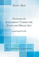 Notices Of Judgement Under The Food And Drugs Act