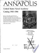 Annapolis The United States Naval Academy Catalog