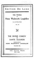The Divine comedy of Dante Allghieri  translated by H  W  Longfellow