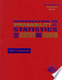 Introduction to Probability and Statistics for Scientists and Engineers