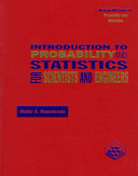 Introduction To Probability And Statistics For Scientists And Engineers Book PDF