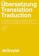 Übersetzung - Translation - Traduction. 2. Teilband