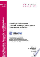 Ultra-High Performance Concrete and High Performance Construction Materials