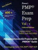 Raman S Pmp Exam Prep Vol 1 Aligned With The Pmbok Guide Sixth Edition Book PDF