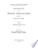 Catalogue Of The Dante Collection Presented By Willard Fiske Pt 2 Works On Dante H Z Supplement Indexes Appendix